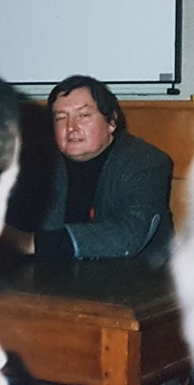Terrance Dicks at St Peter's College, Oxford, 1994. Illustrative.