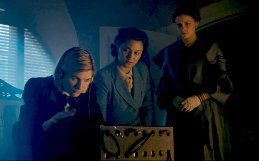 The Doctor, Noor and Ada in a scene from Spyfall Part Two