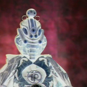 Omega as he appears in Arc of Infinity before he has fully crossed from the anti-matter universe.