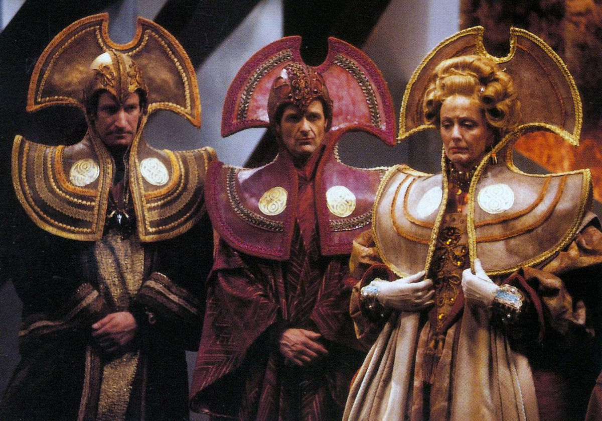 Three Time Lords from the 1983 Doctor Who story Arc of Infinity